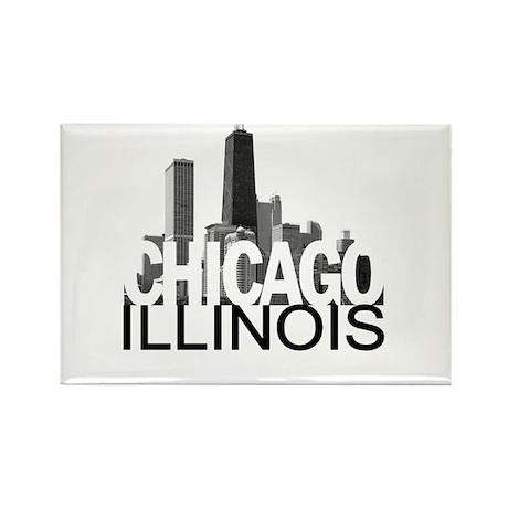 Chicago Skyline Rectangle Magnet (100 pack)