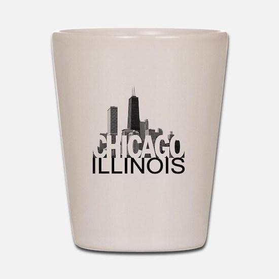 Chicago Skyline Shot Glass