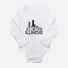 Chicago Skyline Long Sleeve Infant Bodysuit