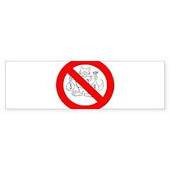 NO FAT CATS™ Bumper Sticker