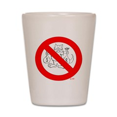 NO FAT CATS™ Shot Glass