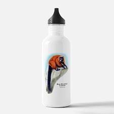 Red Ruffed Lemur Water Bottle