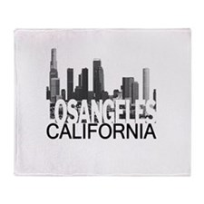 Los Angeles Skyline Throw Blanket