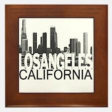 Los Angeles Skyline Framed Tile
