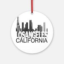 Los Angeles Skyline Ornament (Round)