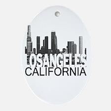 Los Angeles Skyline Ornament (Oval)