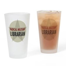 Radical Militant Librarian Drinking Glass