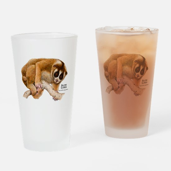 Slow Loris Drinking Glass