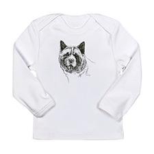 Akita Head Long Sleeve Infant T-Shirt