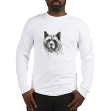 Akita Head Long Sleeve T-Shirt