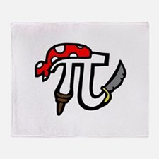 Pi Pirate Throw Blanket