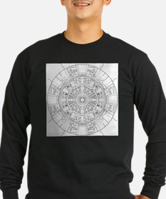 Large Hadron Collider Lineart Long Sleeve T-Shirt