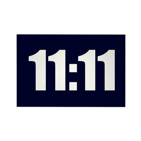 11:11 Rectangle Magnet