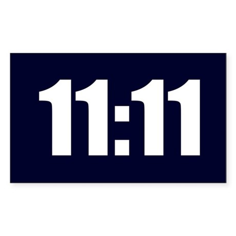 11:11 Sticker (Rectangle)