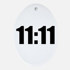 11:11 Ornament (Oval)