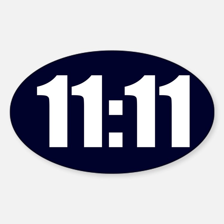 11:11 Sticker (Oval)