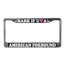 Bark Love American Foxhound License Plate Frame