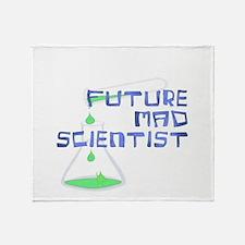Future Mad Scientist 2 Throw Blanket