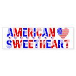 American Sweetheart Bumper Sticker