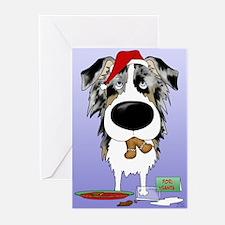 Aussie Santa's Cookies Greeting Cards (Pk of 20)
