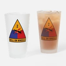 2nd Armored Division Drinking Glass
