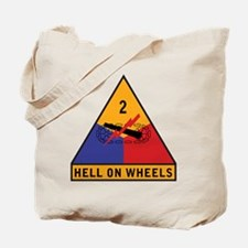2nd Armored Division Tote Bag