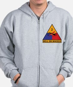 2nd Armored Division Zip Hoodie