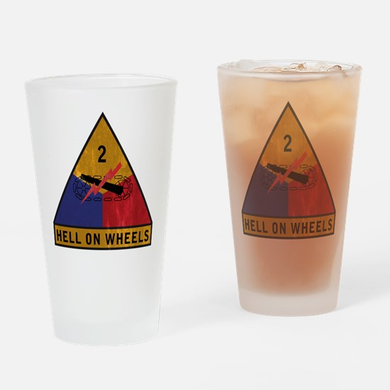 2nd Armored Division Vintage Drinking Glass