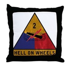 2nd Armored Division Vintage Throw Pillow