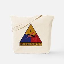 2nd Armored Division Vintage Tote Bag