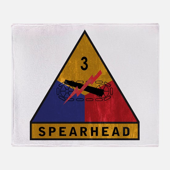 3rd Armored Division Vintage Throw Blanket