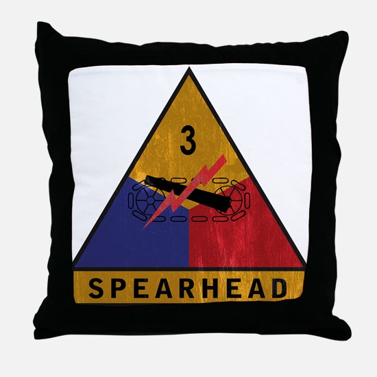 3rd Armored Division Vintage Throw Pillow