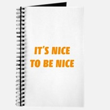 It's nice to be nice Journal