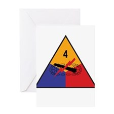 4th Armored Division Greeting Card