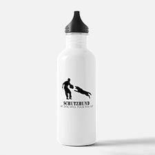 Cute Schutzhund Water Bottle
