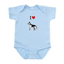 I Love German Shephards Infant Bodysuit