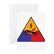 5th Armored Division Greeting Card