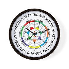 Cute Chart circle fifths Wall Clock