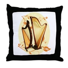 Harp Love Throw Pillow