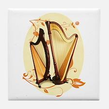 Harp Love Tile Coaster