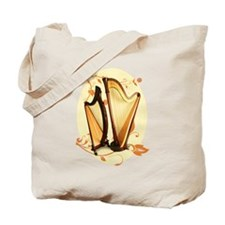 Harp Love Tote Bag