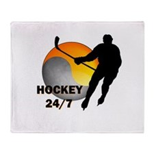 Hockey 24/7 Throw Blanket