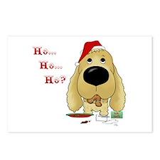 Cocker Santa's Cookies Postcards (Package of 8)