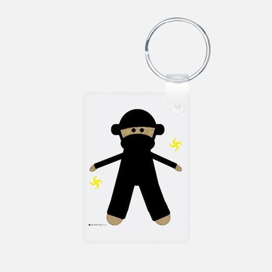 Ninja Sock Monkey Keychains