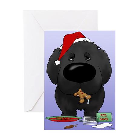 Newfie Santa's Cookies Greeting Card
