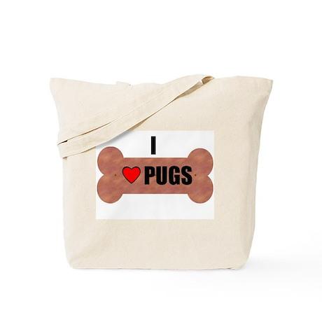 HUG A PUG (BLACK CHINESE PUG) Tote Bag