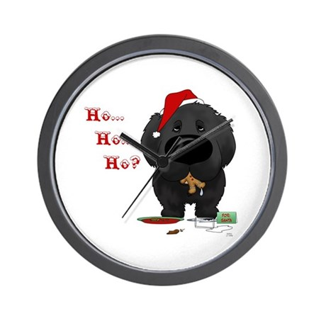 Newfie Santa's Cookies Wall Clock