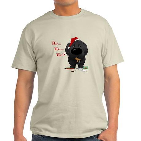 Newfie Santa's Cookies Light T-Shirt