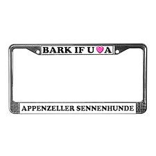 Bark Appenzeller Sennenhunde License Plate Frame