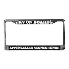 K9 Appenzeller Sennenhunde License Plate Frame